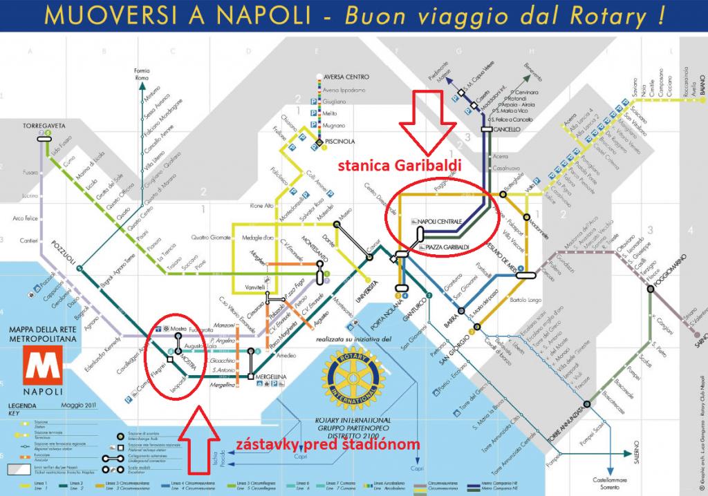 Metro mapa Neapol