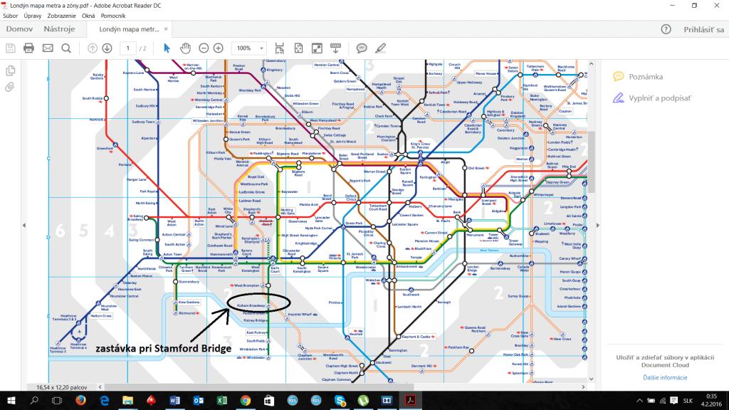 stamford bridge mapa