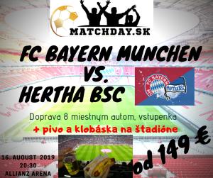 FC bayern Mníchov - Hertha bsc